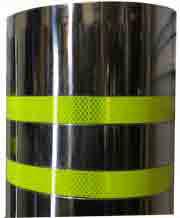 bollard reflective strips